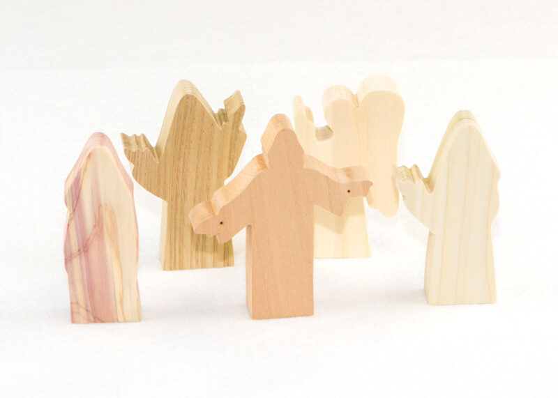 5 Multi-Wood Figures for Sunday School Lesson