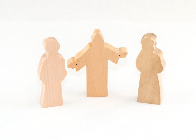 3 Multi-Wood Figures for Sunday School Lesson