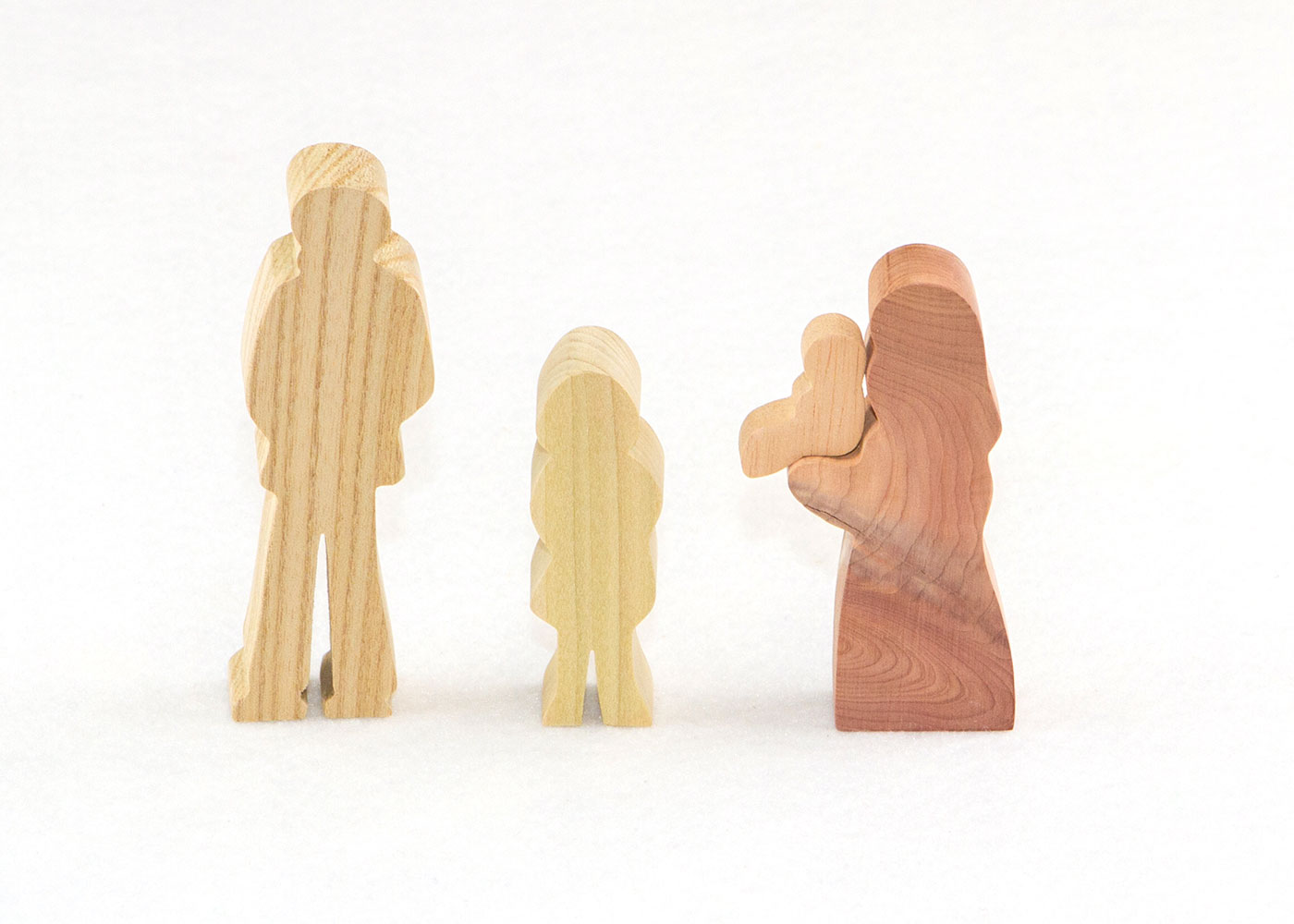4 Multi-Wood Figures for Sunday School Lesson