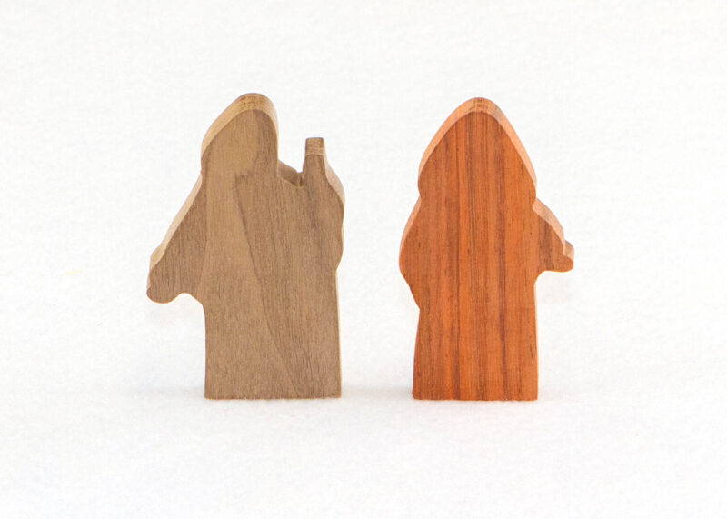Wooden 2 Multi-Wood Figures for Sunday School Lesson