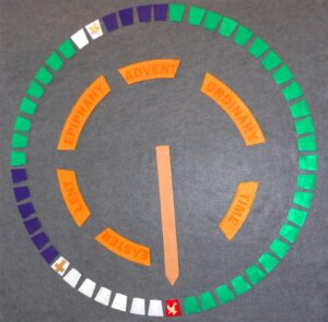 How the Church Tells Time - Small Felt Calendar - Velcro