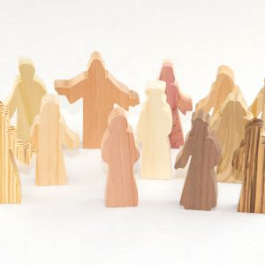 13 Multi-Wood Figures for Sunday School Lesson
