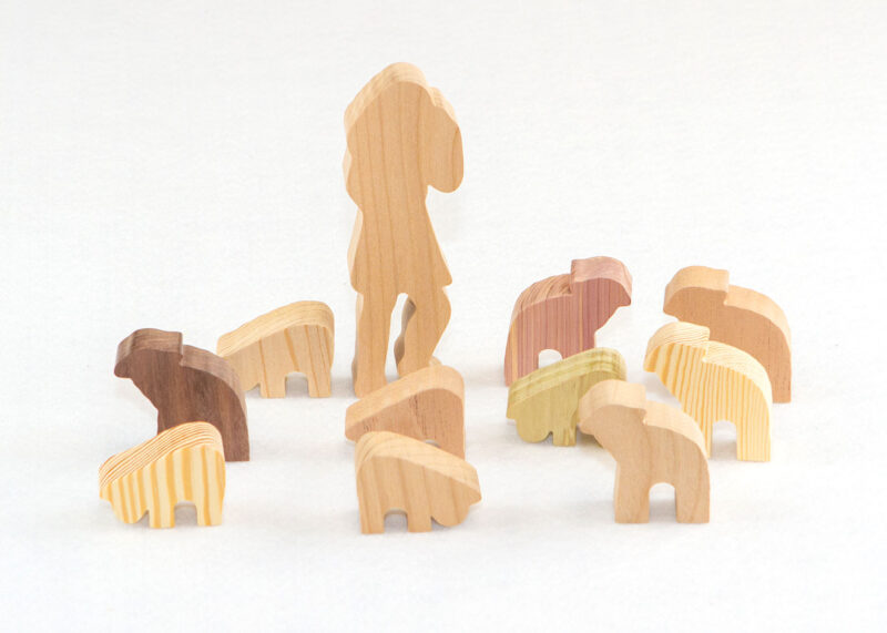 21 Multi-Wood Figures for Sunday School Lesson