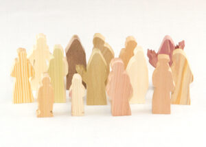 14 Multi-Wood Figures for Sunday School Lesson
