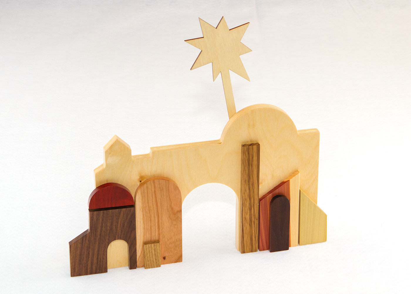 Multi-Wood Bethlehem for Sunday School Lesson
