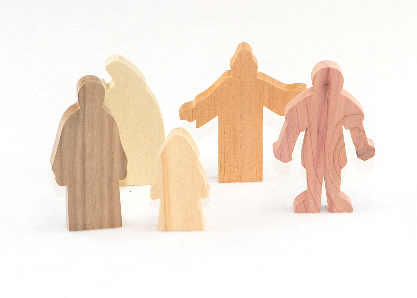 Wooden Figures for Jesus is Baptized Sunday School Lesson