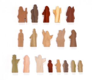 18 Multi-Wood People of God Figures