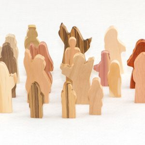 Wooden 18 Multi-Wood People of God Figures School Lesson