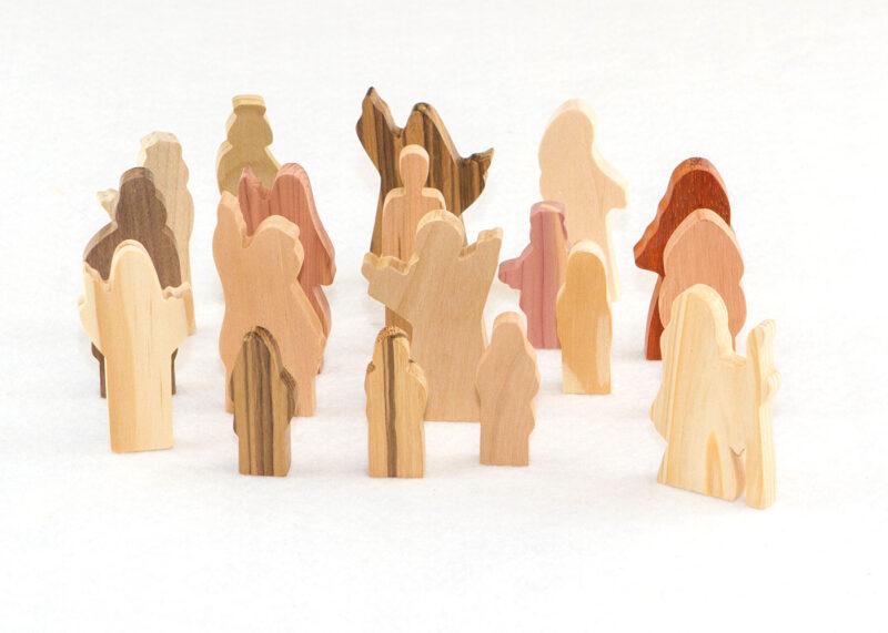 Wooden 18 Multi-Wood People of God Figures Sunday School Lesson