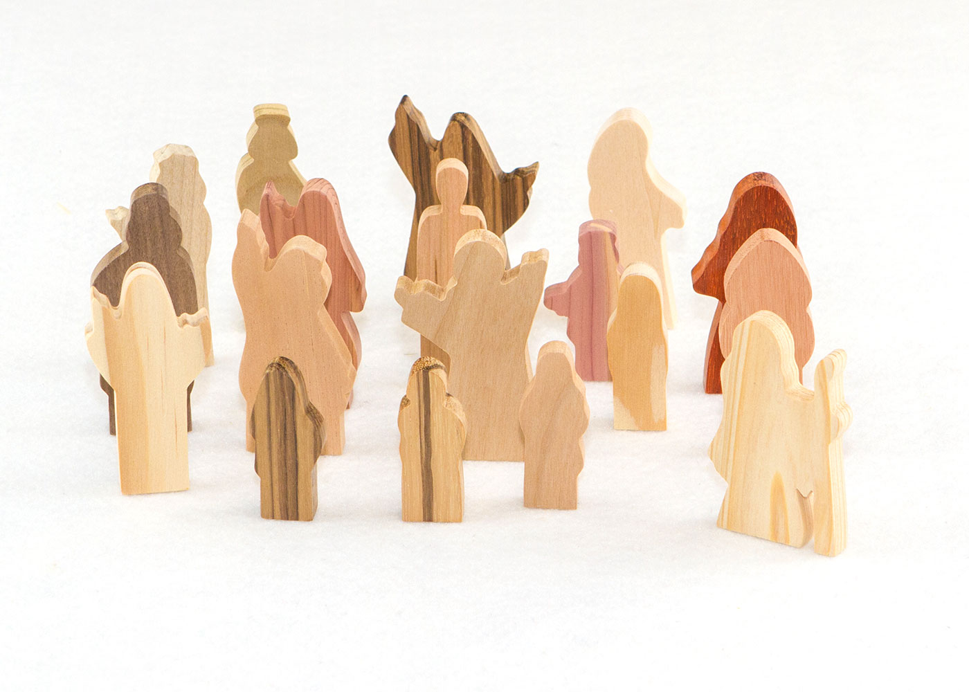 Wooden 18 Multi-Wood People of God Figures Sunday School Lesson