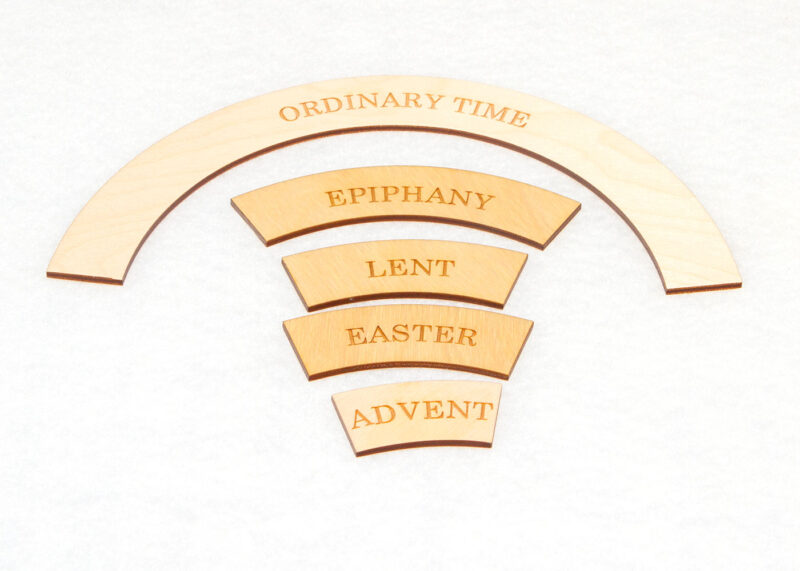 Wooden Time Labels for Sunday School Lesson