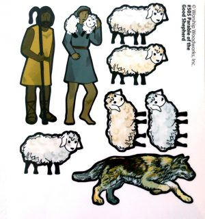 Parable of the Good Shepherd (Laminated Color Print) Sunday School Lesson
