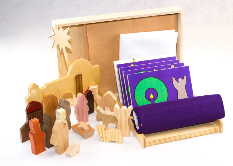 Wooden Advent Sunday School Lesson