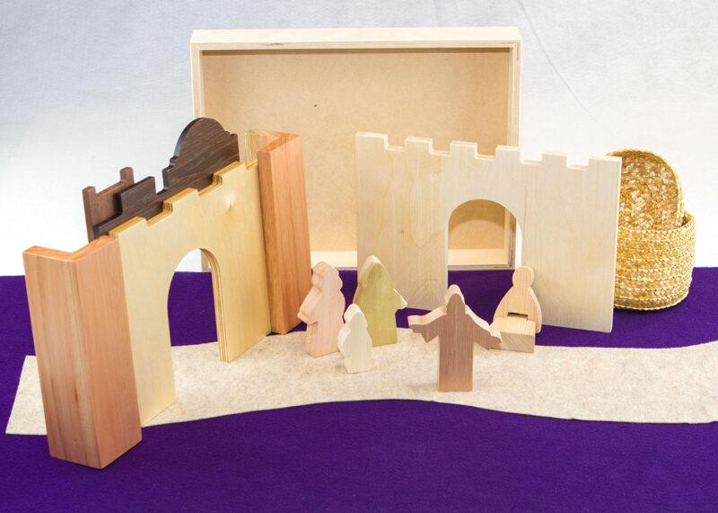 Wooden Jesus & Bartimaeus Sunday School Lesson