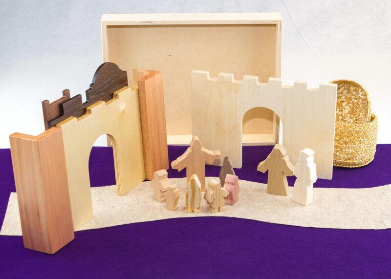 Wooden Jesus & Children Sunday School Lesson