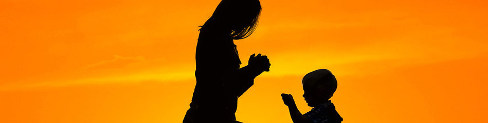 Mother Praying With Son