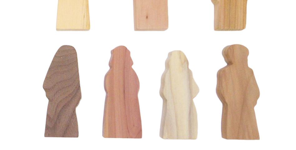 Worship Woodworks - Multi-Wood Disciple Figures Set